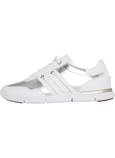Tommy Hilfiger Kadın Essential Leathe Sneakers FW0FW03688 Beyaz